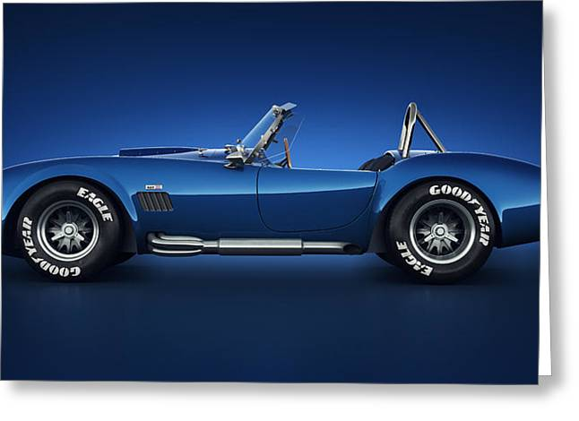 American Automobiles Greeting Cards - Shelby Cobra 427 - Water Snake Greeting Card by Marc Orphanos