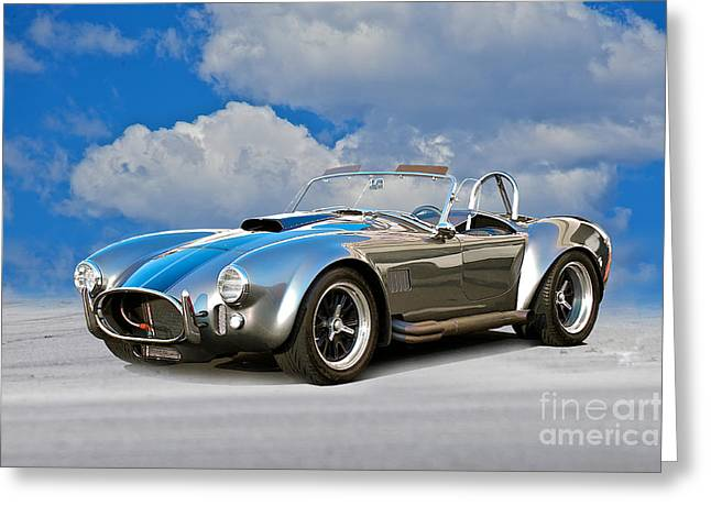 Rally Greeting Cards - Shelby Cobra  Greeting Card by Dave Koontz