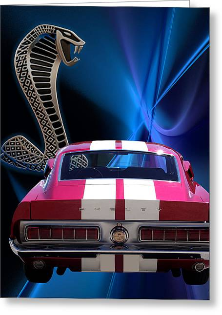 Carol Shelby Greeting Cards - Shelby Cobra GT-500 Greeting Card by Chris Thomas