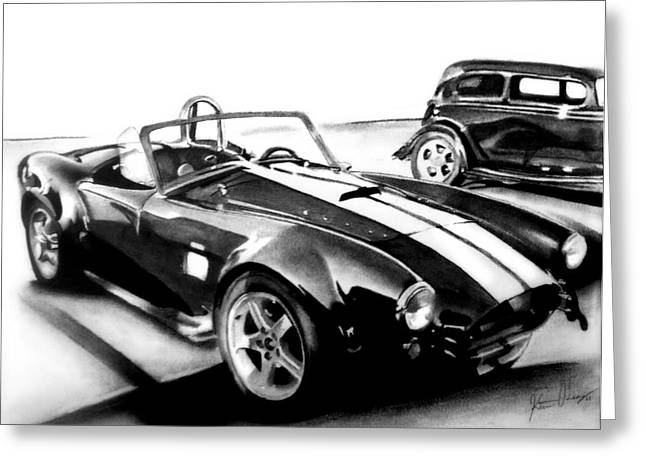 Carroll Shelby Drawings Greeting Cards - Shelby Cobra Greeting Card by Kristin  O