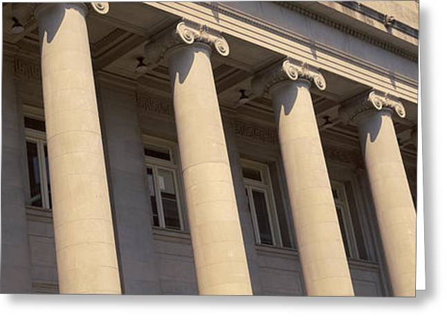 Tn Greeting Cards - Shelby County Courthouse Columns Greeting Card by Panoramic Images