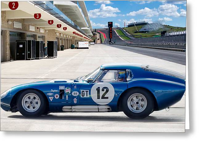 Carroll Greeting Cards - Shelby Daytona Coupe Greeting Card by Peter Chilelli