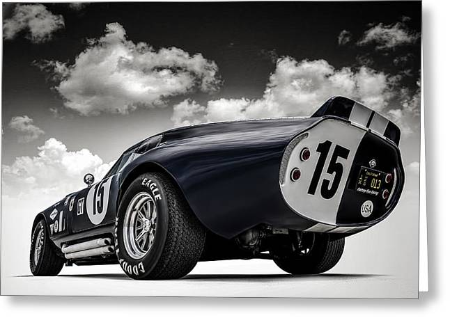 Cars Greeting Cards - Shelby Daytona Greeting Card by Douglas Pittman