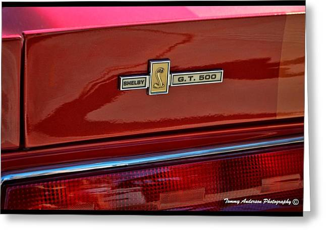 Carol Shelby Greeting Cards - Shelby GT 500 Mustang 4 Greeting Card by Tommy Anderson