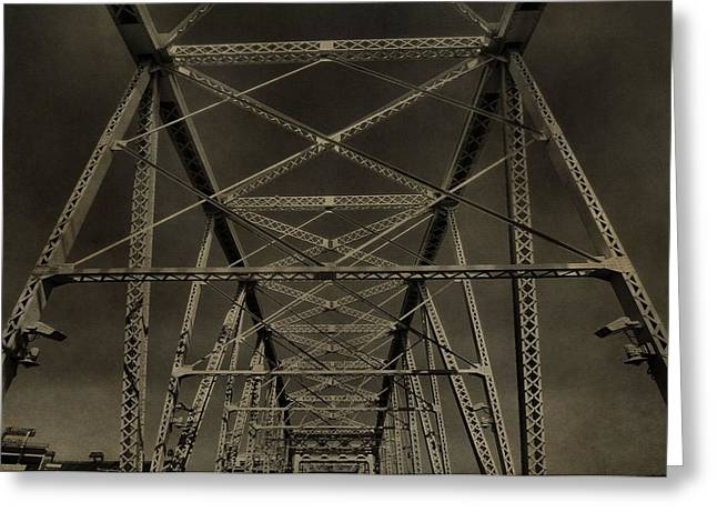 Famous Bridge Greeting Cards - Shelby Street Bridge Details Nashville Greeting Card by Dan Sproul