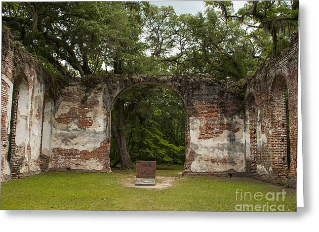 Civil War Site Greeting Cards - Sheldon Church Interior Greeting Card by Jere Snyder