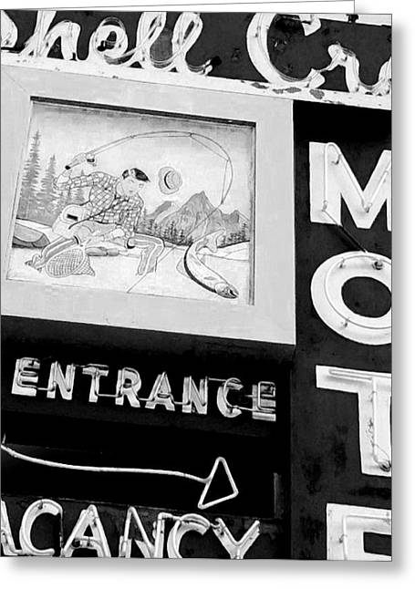 Wells Nevada Greeting Cards - Shell Crest Motel Greeting Card by Gail Lawnicki