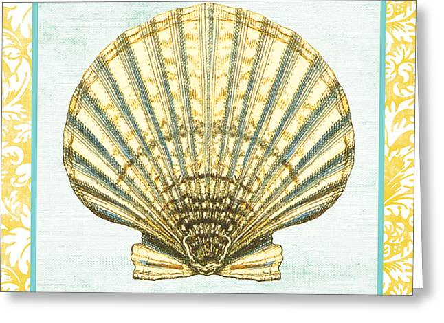 Colored Shell Digital Art Greeting Cards - Shell Finds-A Greeting Card by Jean Plout