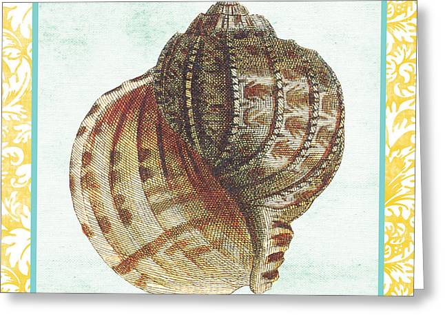 Colored Shell Digital Art Greeting Cards - Shell Finds-C Greeting Card by Jean Plout