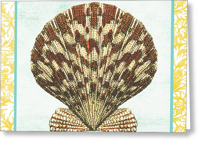 Colored Shell Digital Art Greeting Cards - Shell Finds-D Greeting Card by Jean Plout