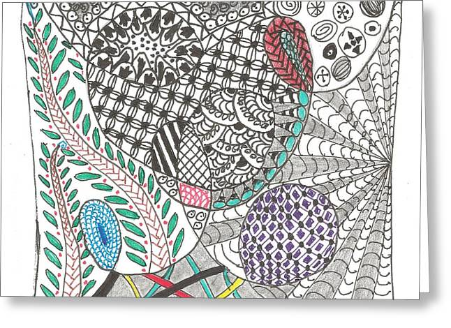 Meditate Drawings Greeting Cards - Shell Game Greeting Card by Sheila Byers
