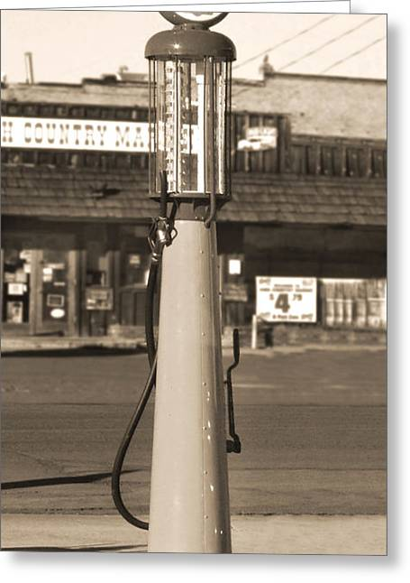 Shell Digital Greeting Cards - Shell Gas - Wayne Visible Gas Pump 2 Greeting Card by Mike McGlothlen