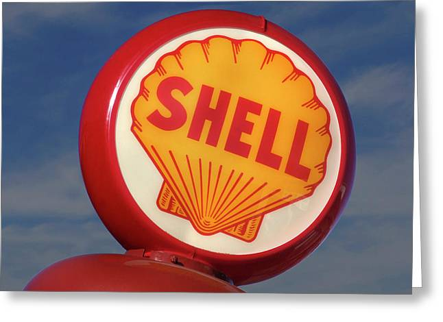 Shell Digital Greeting Cards - Shell Globe Greeting Card by Mike McGlothlen