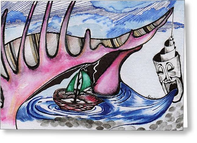 Apathy Greeting Cards - Shell of Apathy Greeting Card by Alenia Laguardia