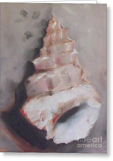 Seashell Picture Paintings Greeting Cards - Shell Pocket Greeting Card by Mary Hubley