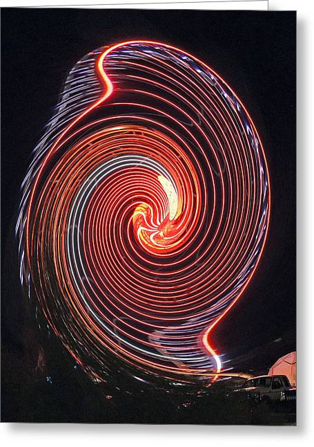 Shell Swirl Greeting Card by Marian Bell