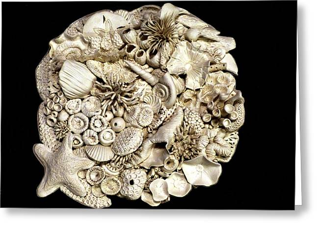 Great Sculptures Greeting Cards - Shelling Greeting Card by Lou Sisneros