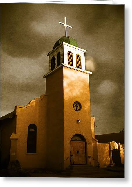 In His Light Greeting Cards - Shelter in the Storm Greeting Card by Steven Bateson
