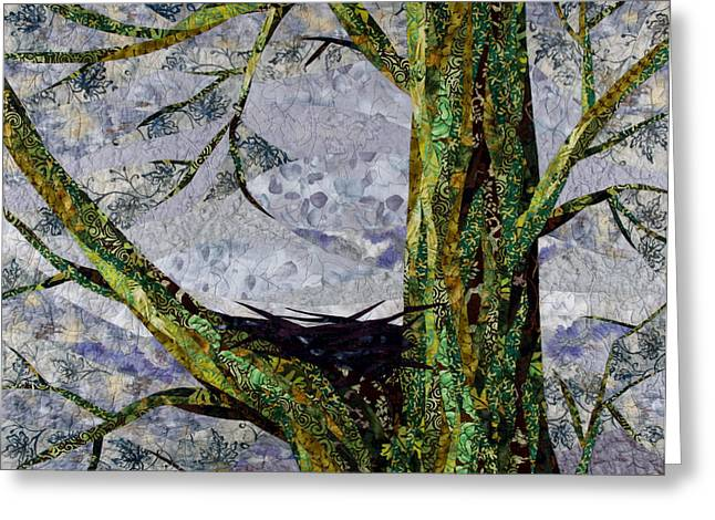 Gray Tapestries - Textiles Greeting Cards - Shelter Greeting Card by Linda Beach