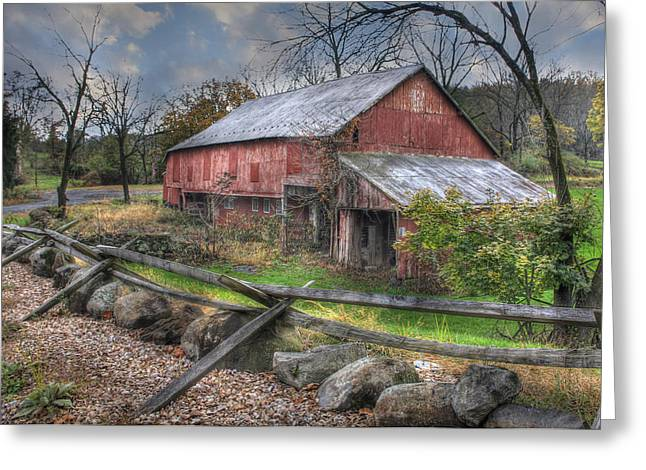 Recently Sold -  - Old Barns Greeting Cards - Shelter Greeting Card by Lori Deiter
