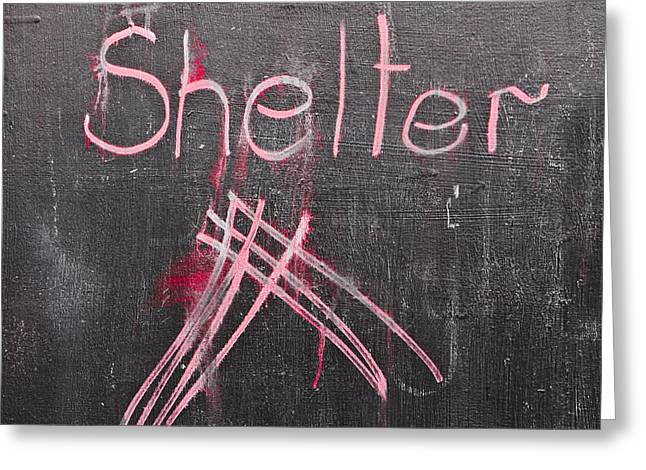 Shelter Greeting Card by Tom Gowanlock