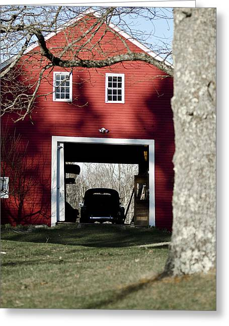 Old Maine Barns Greeting Cards - Sheltered Greeting Card by David Hill