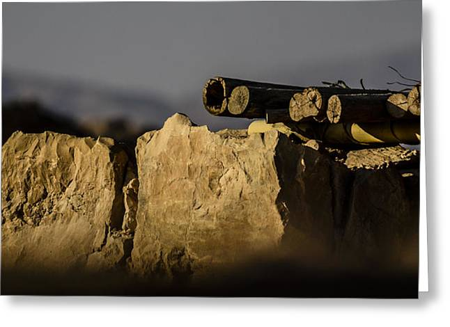 Birthright Greeting Cards - Sheltering Masada Greeting Card by Alan Marlowe