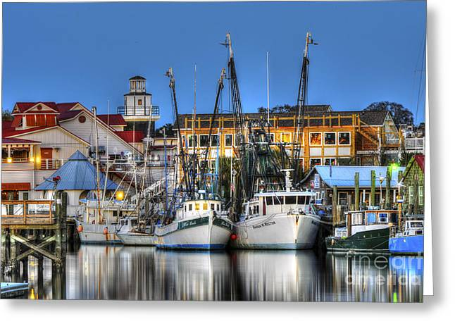 Resturant Art Greeting Cards - Shem Creek Greeting Card by Dale Powell