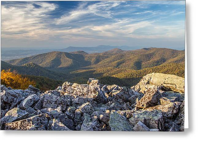 Ap Greeting Cards - Shenandoah Black rock Mountain Greeting Card by Pierre Leclerc Photography