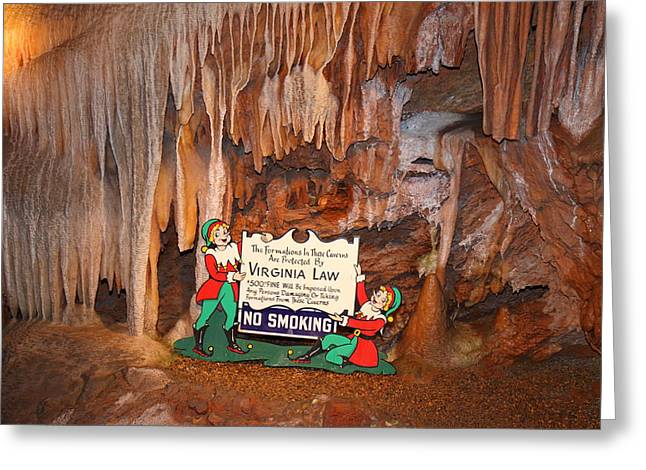 Virginia Greeting Cards - Shenandoah Caverns - 12127 Greeting Card by DC Photographer