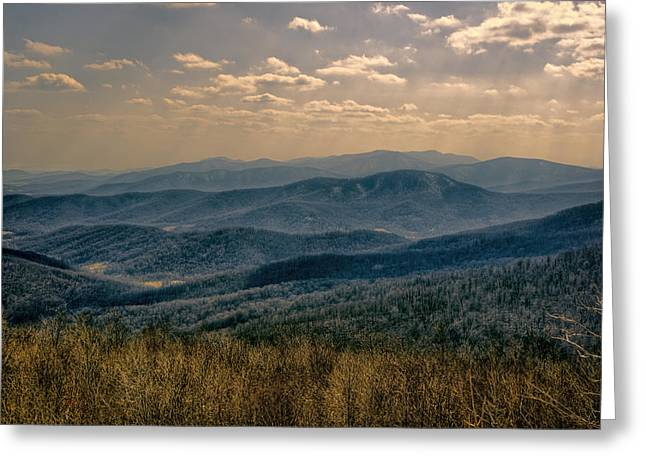 Mountain Valley Greeting Cards - Shenandoah Vista Greeting Card by Joan Carroll