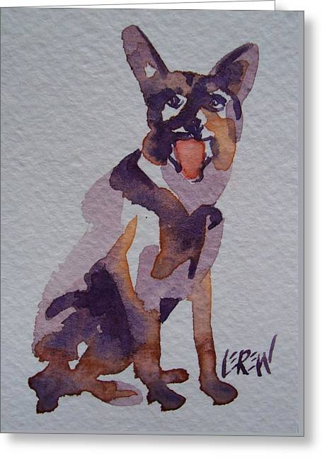 Police Art Drawings Greeting Cards - Shep Greeting Card by Larry Lerew