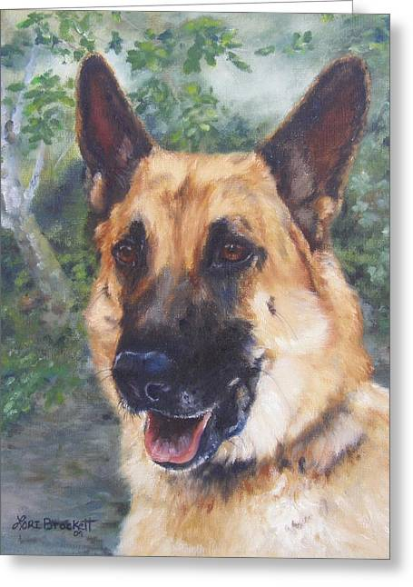 Shep Greeting Card by Lori Brackett