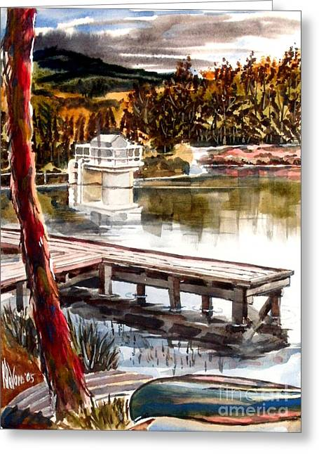 Escape Mixed Media Greeting Cards - Shepherd Mountain Lake Bright Greeting Card by Kip DeVore