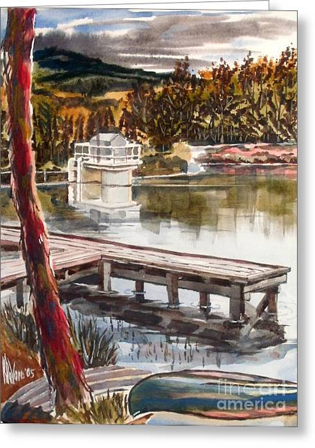 Escape Mixed Media Greeting Cards - Shepherd Mountain Lake in Twilight Greeting Card by Kip DeVore