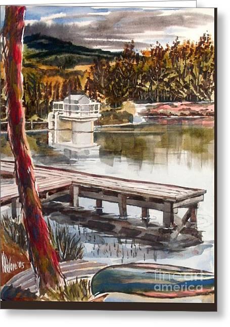 Shepherd Mountain Lake In Twilight Greeting Card by Kip DeVore