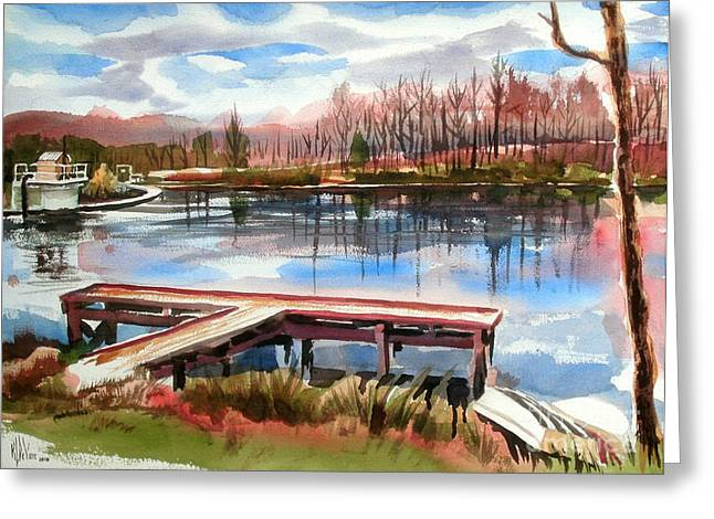 Pond In Park Greeting Cards - Shepherd Mountain Lake in Winter Greeting Card by Kip DeVore