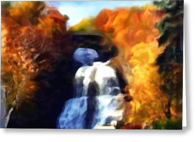 Schuyler County New York Greeting Cards - Shequaga Falls Greeting Card by Gregory Damian Green