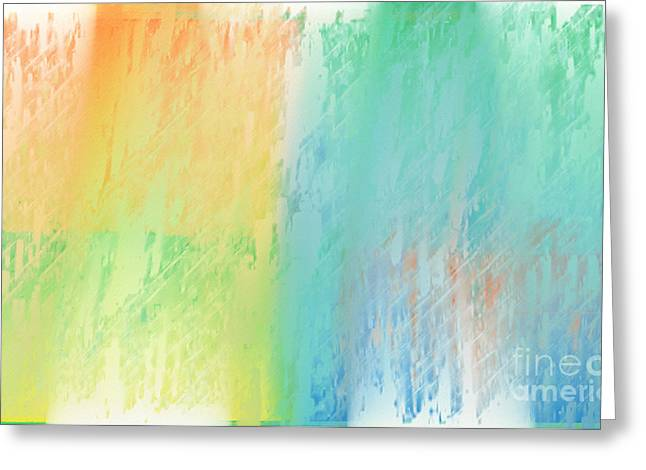 Sherbet Abstract Greeting Card by Andee Design
