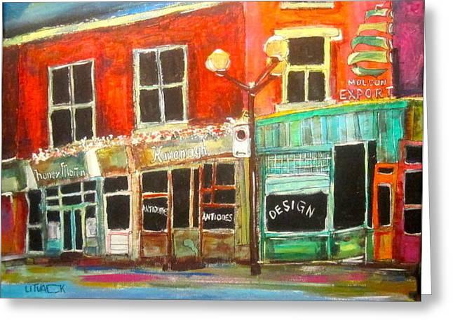 Sherbrooke Street West Greeting Card by Michael Litvack