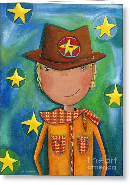 Crafts For Kids Greeting Cards - Sheriff - Cowboy Greeting Card by Sonja Mengkowski
