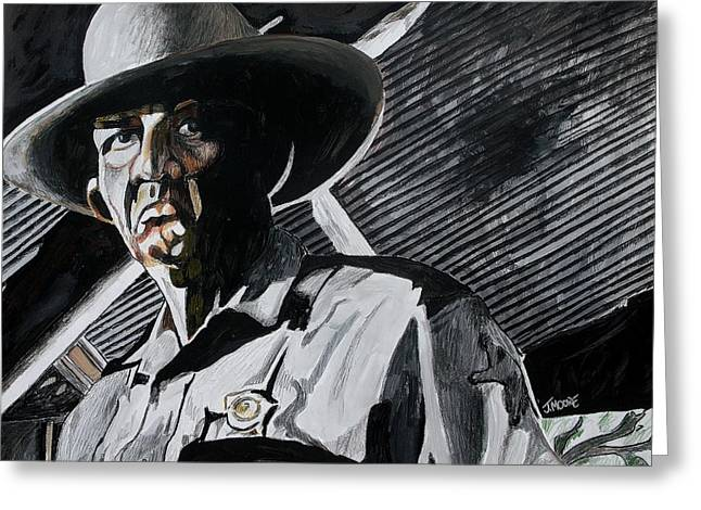 Sheriff Hoyt Greeting Card by Jeremy Moore