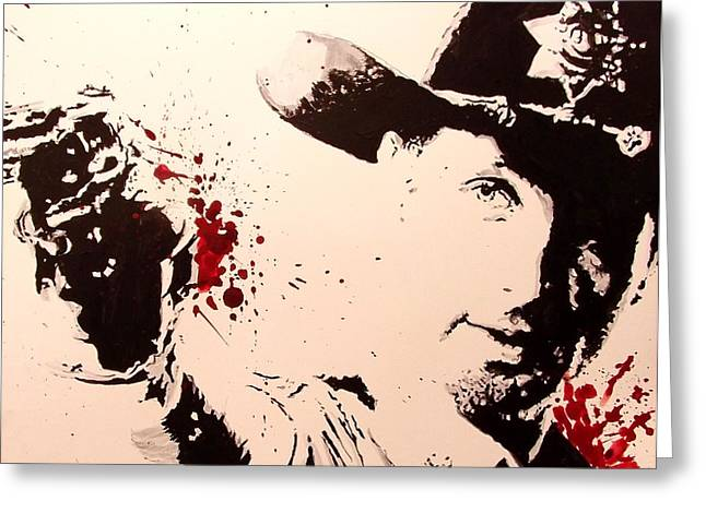 Rick Grimes Greeting Cards - Sheriff Rick Grimes  Greeting Card by Lauren Anne
