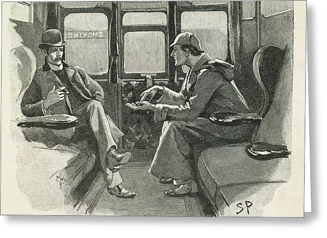 Sherlock Holmes And Dr. Watson Greeting Card by British Library