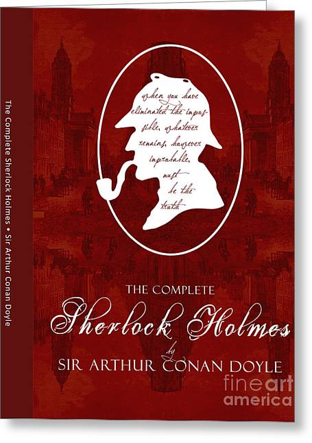 Police Art Greeting Cards - Sherlock Holmes Book Cover Poster Art 1 Greeting Card by Nishanth Gopinathan