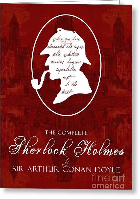 Police Art Greeting Cards - Sherlock Holmes Book Cover Poster Art 2 Greeting Card by Nishanth Gopinathan