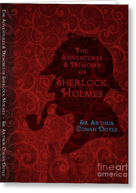 Police Art Greeting Cards - Sherlock Holmes Book Cover Poster Art 3 Greeting Card by Nishanth Gopinathan