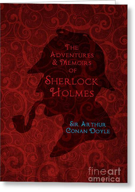 Sherlock Holmes Book Cover Poster Art 4 Greeting Card by Nishanth Gopinathan