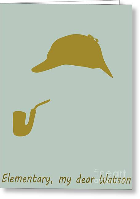 Clever Greeting Cards - Sherlock Holmes poster Greeting Card by Martin Capek