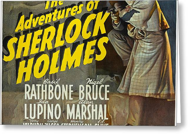 Sherlock Holmes Greeting Card by Unknown